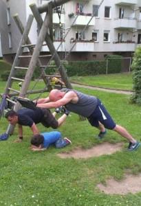 Spielplatz-Fitness